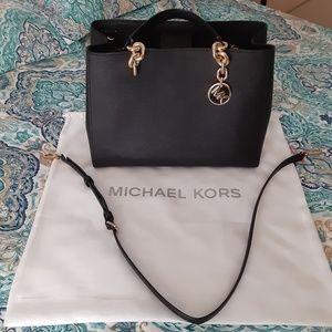 Michael Kors Cynthia Medium Leather Satchel